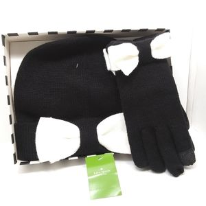 ♠KATE SPADE Hat & Gloves Boxed Set